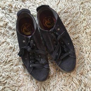 Diesel Brown Suede Leather Sneakers, Size 10.5